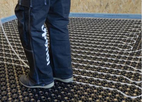 Minitec - lågbyggande golvvärme för ingjutning